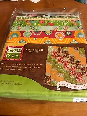 "Simple Quilts ""Funky Cobblestone"" Do-It-Yourself Kit, 48""x64"", Cotton, New"