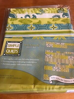 Simple Quilts Do It Yourself Quilt Kit Blue And Green Brick