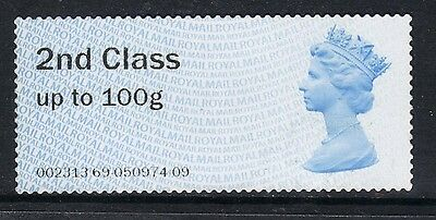 GB 2014 QE2 2nd Class up to 100 gms  Post & Go Unused no gum ( A581 )