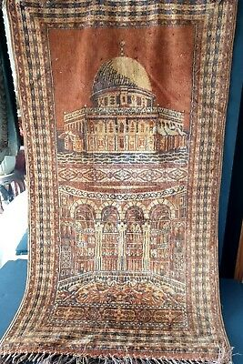 Old Turkish Silk Prayer Rug / Wall Hanging …beautiful colours – great collection