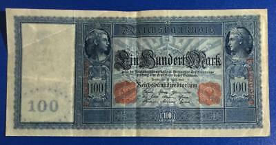 "1910 $10 Germany LARGE SIZE ""HORSEBLANKET"" Paper Money Currency"