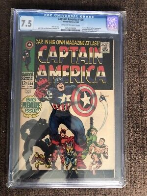 Captain America #100 (1968) CGC 7.5 1st Issue Black Panther App.