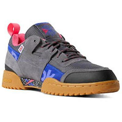 24a2afa9a3f8fa Reebok Workout Plus Ripple Altered DV7147 Gray Blue Pink Mens Womens Shoes  Sizes