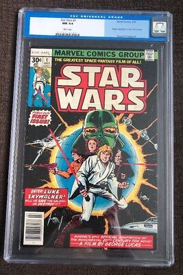 Star Wars #1 (7/77) CGC 9.4 30 Cent Cover 1st Print Marvel Comics 1977