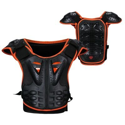 Kids Motocross Sport Chest Protector Vest Black Racing Body Dorsal Armour 1PC