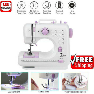 Mini Electric Sewing Machine Dual Speed Double Thread W/ Foot Pedal Light Tailor