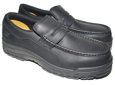 fef788a6eac CATERPILLAR PENNY LOAFER Steel Toe EH ERGO Black Leather Work Shoe Men s 9  NEW -  69.00