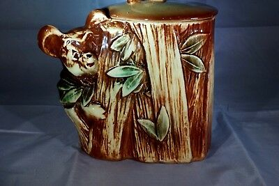 Vintage McCoy Koala Bear On A Tree Cookie Jar 1950's