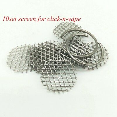10set Click-n-Hit/Puff/Drag/Go Sneak-a-toke Replacement Steel Wire Mesh W/ Ring