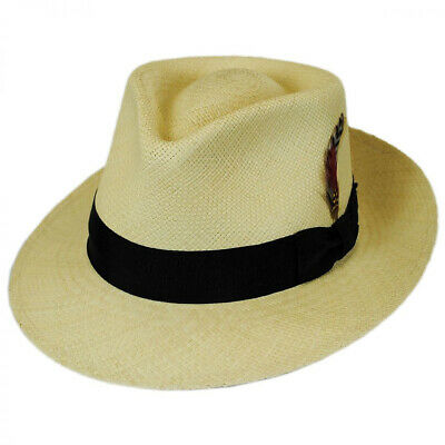 39352dba JAXON HATS STAIN Repellent Panama Straw C-Crown Fedora Hat - $95.00 ...