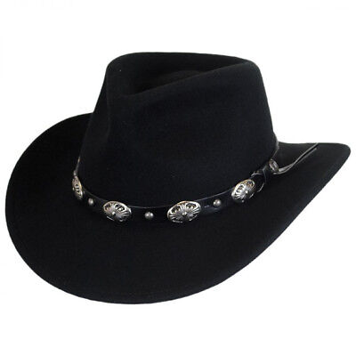 e8c7a6a4f23 STETSON BOZEMAN WOOL Crushable Cowboy Hat Black LARGE (7 3 8 -7 1 2 ...