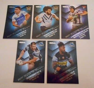 5 x 2018 NRL TRADERS SEASON TO REMEMBER RUGBY LEAGUE TRADING CARDS-FREE POST