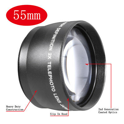 Neewer 55mm HD 2x Magnification Telephoto Lens for Cameras with 55mm lens