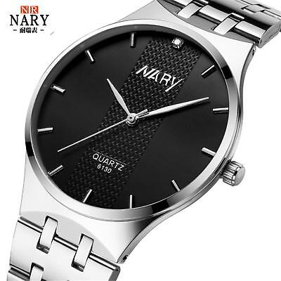 Nary Womens Men Fashion Luxury Watch Elegant Dial Analog Alloy Quartz Wristwatch