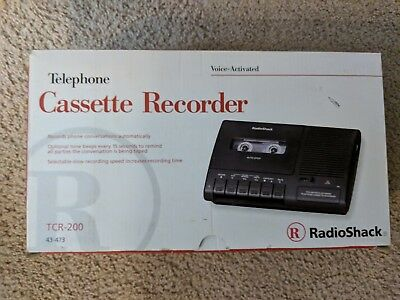RadioShack TCR-200 Voice Activated Telephone Cassette Recorder Tested Free Ship