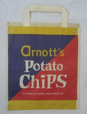 Vintage Australian Paper Showbag Arnotts Potato Chips Show Bag