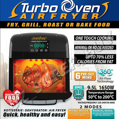 Multifunction All In One Turbo Oven Airfryer - Fry/Grill/Roast/Bake Food AUSTOCK