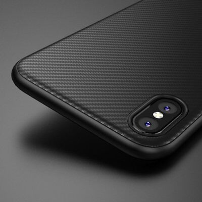 Super Slim Matte Carbon Fiber Soft TPU Case Cover for Apple iPhone 6s 7 Plus 8 X