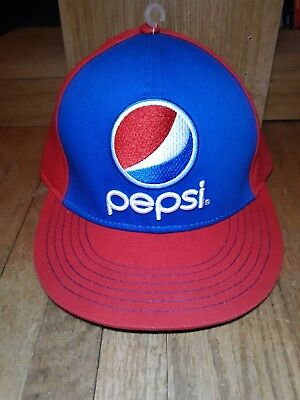 Pepsi Baseball Cap Hat New With Tags 2014 Red Blue Cola Adjustable Snap Back