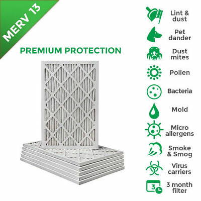 NEW - 16X25X1 MERV 13 Pleated AC Furnace Air Filters - 12 Pack - Free shipping