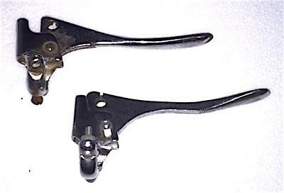 Vintage 1960S Matched Pair Of Steel Brake Levers For Touring Bikes Raleigh Etc