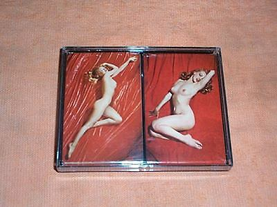 Marilyn Monroe Playing Cards-Nude-Mint Condition W/Case- Copyright 1976