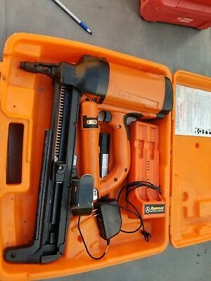 Ramset T3 Cordless Gas Actuated Fastner/nailer W/ 2 Batteries, case, charger