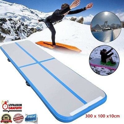 300*100*10cm Gonflable Tapis Gymnastique Air Tumbling Track Training Fitness Mat