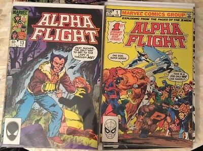 28 book LOT 1980s Marvel No 1-29 (missing #8) Alpha Flight Comic John Byrne