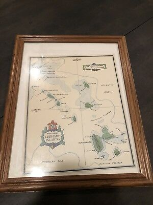 Leeward Islands West Indies Map Bs Dyde 1984 Colored Framed Print