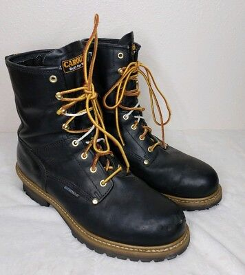 Carolina Boots CA9823 Logger Safety Toe Waterproof Boot Black Leather Mens 11.5D