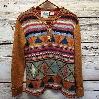 Vintage Organically Grown by Arpeja Pullover Sweater Mens Size Medium