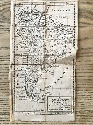1746 South America Original Antique Map By John Cowley 272 Years Old