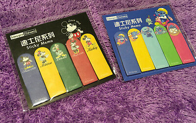 Disney Mickey Mouse Stitch Sticky Memo Notes Pad Cute Flag Bookmark Message Gift