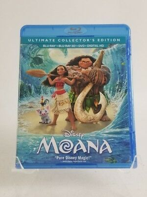 Disney Moana Ultimate Collectors Edition 3D Blu-ray/Blu-ray Digital HD DVD