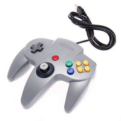 Classic Wired Gaming Controller USB Joystick GamePad Console for Nintendo 64