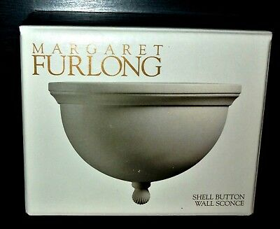 Margaret Furlong Wall Sconce Shell Button New in Box