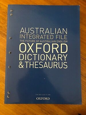 Australian Integrated School File Oxford Dictionary & Thesaurus by Oxford...
