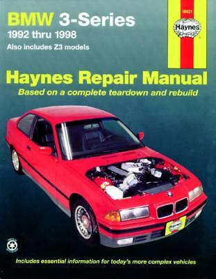 Haynes Workshop Manual BMW 3-Series Inc Z3 1992-1998 Service & Repair