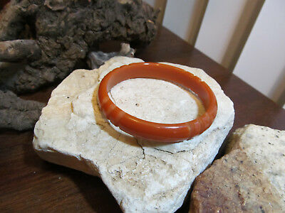 Vintage Genuine Butterscotch Bakelite Carved Bangle Bracelet
