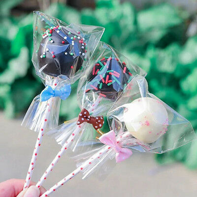 New 5 Sizes Clear Flat Open End Cello Bags For Bakery / Cookie / Candy YI