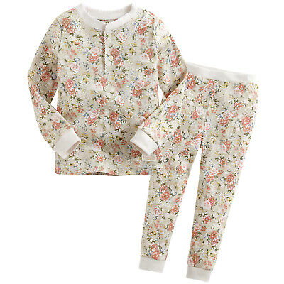 "Vaenait Baby Toddler Kids Girls Clothes Pajama Set ""Flower Beige"" L(4-5T)"