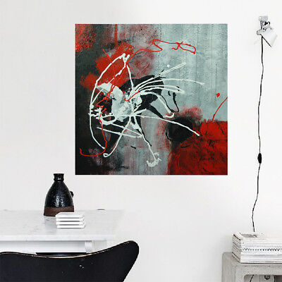 Hand Painted Abstract Art Oil Painting Stretched Canvas Home Decor - Framed