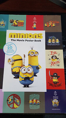 minions the movie poster book includes 20 posters,postcards & more. new book.