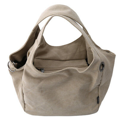 Female Canvas Bag Shoulder Big Handbag Retro Big Capacity Leisure Bag N7