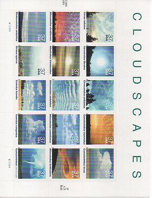 United States 2004 Cloudscapes Stamp Sheet