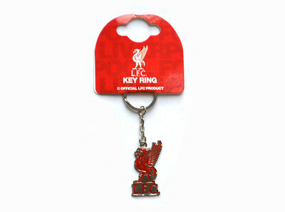 Liverpool Liver Bird Football Club Badge Metal Fob Keyring Keychain Official