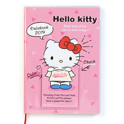 678b719664 Hello Kitty Sanrio Date Book 2019 Schedule Planner B6 Dress Up Japan  Monthly F S