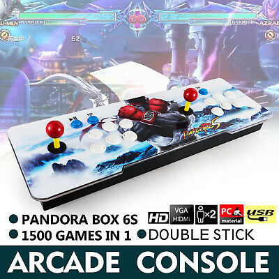 Pandora Box 6s  6S 1500 in One Double Stick Retro Video Games Arcade Console