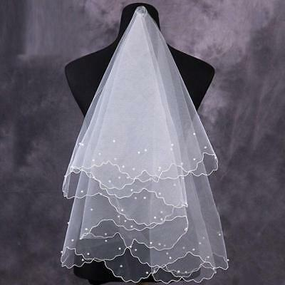 Short Lace Double Layers Tulle Wedding Bridal Veil Bride Wedding Hair Accessory
